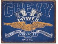 "Chevy Power Metal Tin Sign  16"" x 12.5"" Man Cave Garage Decor Home Wall Decor"