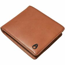 NIXON - Padded Real Leather Wallet 10 Card Slots Premium Luxury Quality - Brown