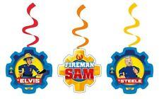 Sam le Pompier 6 Deco Spirals Déco Fireman Samparty Fête D'Anniversaire Enfant