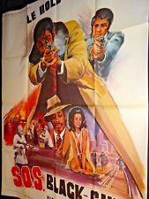 blaxploitation S.O.S BLACK GUN    ! affiche cinema 1973