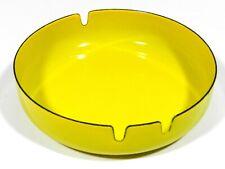 Vintage Enamel on Ashtray Yellow Modernist