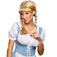 Cowgirl Womens Braided Blonde Swiss Miss Oktoberfest Beer Girl Costume Wig