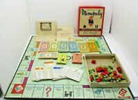 Vintage 1952 Monopoly Game Popular Edition With Board