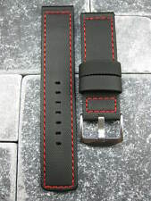 22mm Soft Rubber PVC Diver Strap Watch Band Maratac Seamaster RED TAG 22 mm II