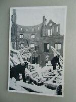 Ansichtskarte Brandkatastrophe Altes Schloss Stuttgart 1931 Feuerwehr (2)