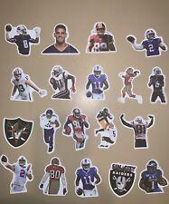 Football Stickers Vinyl Jerry Rice Randi Moss