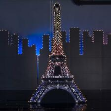 VEGAS NIGHTS LIGHTED EIFFEL TOWER STANDEE * vegas/paris theme party decorations