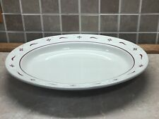 Longaberger Pottery Woven Traditions Red Oval Serving Platter 12 x 10