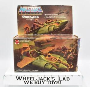 Wind Raider W/Box UNBROKEN 1981 He-Man Masters of the Universe MOTU Mattel