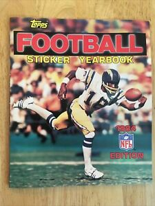 1984 Topps FOOTBALL Sticker Yearbook VG/FN 5.0 No Stickers Brand New Never Used