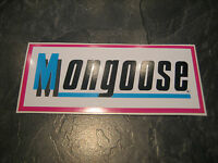 MONGOOSE BMX STICKER OLD SCHOOL BMX MONGOOSE BMX STICKER ORIGINAL RARE 80S BMX