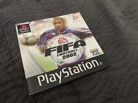 Notice Mode D'emploi Fifa Football 2002 Sony Playstation 1 PS1