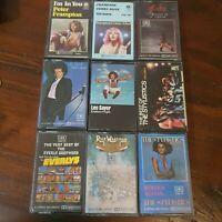Bulk Lot 9 Cassette Tapes Pop Peter Frampton Leo Sayer Stylistics Everlys Wakema