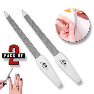 "Small Metal Nail File 5"" Diamond Dusted Coarse Nail Files Manicure Pedicure Tool"