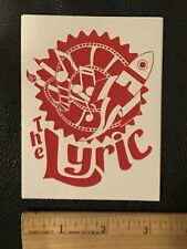 Fort Collins THE LYRIC STICKER Colorado Beer Movie Brewery Venue CO Decal
