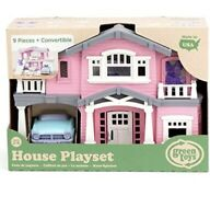 Green Toys House PlaySet PINK 9 Pieces + Convertible 🚘 NEW