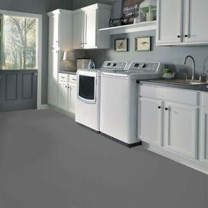 Designer Dark Grey Stage Floor Slip Resistant Vinyl Flooring Lino Kitchen