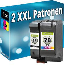 TINTE PATRONEN für HP 15+78 DeskJet 916c 940c 3816 3820 920c 3822 PSC 900 950