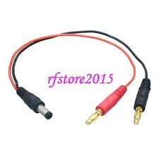 TX Transmitter to 4mm Banana Plugs Charger Lead Wire for JR Spektrum
