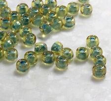 TOHO Seed Beads, Size 6/0, Green Topaz w/Sea Faom Lining, 10 Grams