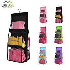 Large Capacity Hanging Purse Organizer Rack Storage Bag For Closet 6 Pockets D1