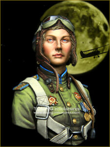 young miniatures night witches resin bust kit model military  ym1878