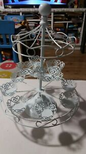 ❤USED ONCE❤ 12 Cake Cupcake Rotating Holder with removable Stand Wedding Party❤❤