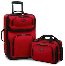 Carry-on Rio Red Rolling Lightweight Expandable Suitcase Tote Bag Luggage Set