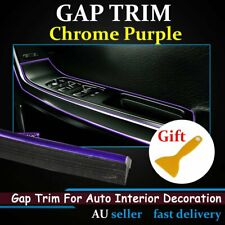Gap Trim Moulding Trim Line Chrome Purple Auto Edge Gape Car Decoration Strip 7M