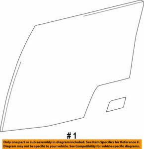 68113-60270 Toyota Glass sub-assy, rear door, rh 6811360270, New Genuine OEM Par