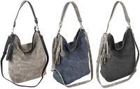 Große Damen Handtasche Schultertasche Umhängetasche in 3 Farben