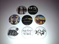 8 Pink Floyd pin Button badges Dark Side of the Moon Wall Wish you Were Here