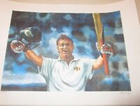 Adam Gilchrist  (Australia) unsigned art print  (A3 size) signed by artist