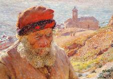 Emile Claus: Ampelio, Old Fisherman of Bordighera. Fine Art Print/Poster