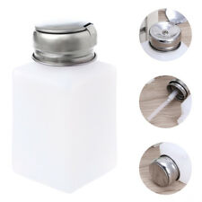 200ml Nail Polish Makeup Remover Push Down Metal Lid Pump Dispenser Bottle
