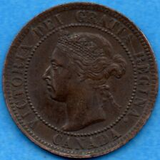Canada 1897 1 Cent One Large Cent Coin - EF/AU