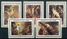 446634) Elfenbeinküste Nr. 777-781 **, Gemälde