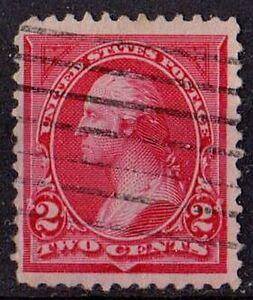 US 1894 Scott #249 Washington, carmine lake, type I 2 cents STAMP