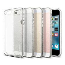 Custodia iPhone SE / 5S / 5 Spigen Cover in TPU Gommata Trasparente con GLITTER