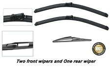 "Peugeot 308 2007-2013 Brand New Front and rear windscreen wiper blades 30""26""12"""