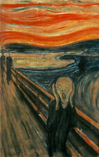 Framed Print - The Scream 1893 by Edvard Munch (Picture Painting Artist Art)