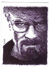 ACEO Art Sketch Card Bryan Cranston as Walter White from Breaking Bad TV Series