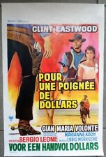 Superbe affiche de cinéma Pour une poignée de Dollars Clint Eastwood