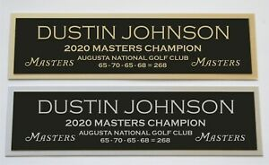 Dustin Johnson nameplate for signed golf ball photo or display case