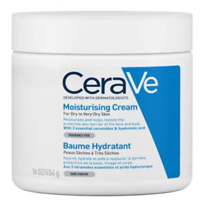 CeraVe Moisturising Cream 454 g Daily Face Body Hand Moisturiser Fragrance Free