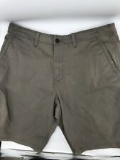 Lucky Brand Saturday Stretch Men Cotton/spandex Shorts olive green 36 *EUC*