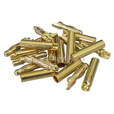 10pair/lot 4.0mm 4mm Gold Bullet Connector Battery ESC Plug L Style