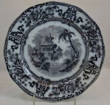 "1800s Davenport Mulberry Cyprus Plate 9"" Beautiful"
