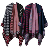 Women Batwing Cape Poncho Pashmina Top Cardigan Sweater Coat Scarf Shawl Y1R6