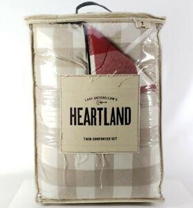 Lady Antebellum Heartland Delta Twin Comforter Set & 1 Sham Red Smokey Mountains